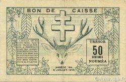 50 Centimes NOUVELLE CALÉDONIE  1942 P.51 SUP