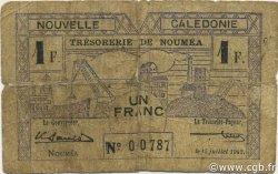 1 Franc NOUVELLE CALÉDONIE  1942 P.52 AB