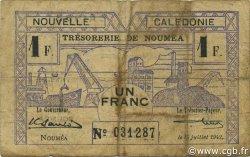 1 Franc NOUVELLE CALÉDONIE  1942 P.52 B à TB