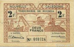 2 Francs NOUVELLE CALÉDONIE  1942 P.53 TTB