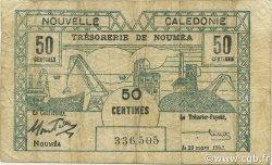 50 Centimes NOUVELLE CALÉDONIE  1943 P.54 TB