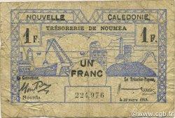 1 Franc NOUVELLE CALÉDONIE  1943 P.55a B