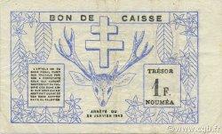 1 Franc NOUVELLE CALÉDONIE  1943 P.55a TTB+