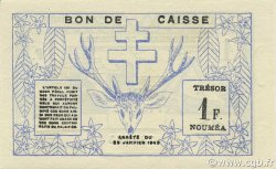 1 Franc NOUVELLE CALÉDONIE  1943 P.55a SPL