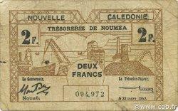 2 Francs NOUVELLE CALÉDONIE  1943 P.56b B+