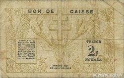 2 Francs NOUVELLE CALÉDONIE  1943 P.56a B+