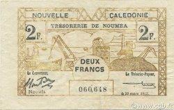 2 Francs NOUVELLE CALÉDONIE  1943 P.56a TTB