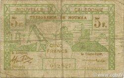 5 Francs NOUVELLE CALÉDONIE  1943 P.58 pr.B