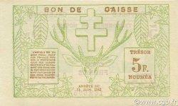 5 Francs NOUVELLE CALÉDONIE  1943 P.58 SPL