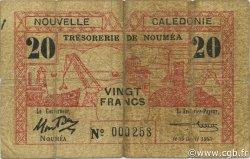 20 Francs NOUVELLE CALÉDONIE  1943 P.57a B