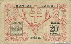 20 Francs NOUVELLE CALÉDONIE  1943 P.57a TB à TTB