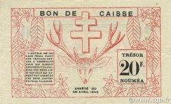 20 Francs NOUVELLE CALÉDONIE  1943 P.57a SUP