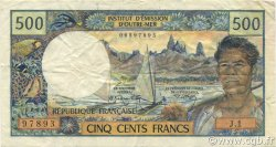 500 Francs NOUVELLE CALÉDONIE  1970 P.60a TTB+