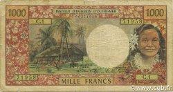 1000 Francs NOUVELLE CALÉDONIE  1969 P.61 B+