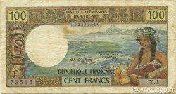 100 Francs NOUVELLE CALÉDONIE  1971 P.63a TB