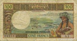 100 Francs NOUVELLE CALÉDONIE  1972 P.63b B+