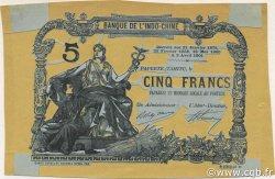 5 Francs TAHITI  1905 P.01-- SUP