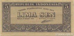 5 Sen INDONÉSIE  1945 P.014 SPL+