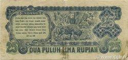 25 Rupiah INDONÉSIE  1947 P.027 TTB