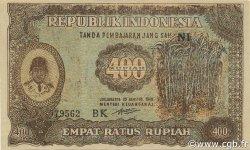 400 Rupiah INDONÉSIE  1948 P.035a SPL