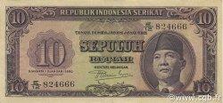 10 Rupiah INDONÉSIE  1950 P.037 TTB+