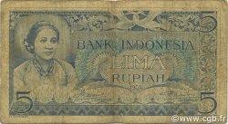 5 Rupiah INDONÉSIE  1952 P.042 B+