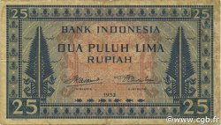 25 Rupiah INDONÉSIE  1952 P.044a TB