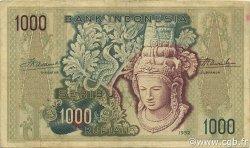 1000 Rupiah INDONÉSIE  1952 P.048 TTB+