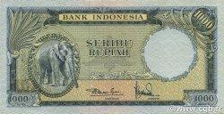 1000 Rupiah INDONÉSIE  1957 P.053 TTB+