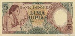5 Rupiah INDONÉSIE  1958 P.055 SUP+
