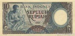 10 Rupiah INDONÉSIE  1958 P.056 NEUF