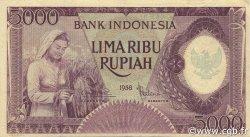 5000 Rupiah INDONÉSIE  1958 P.064 SUP