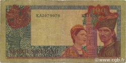 100 Rupiah INDONÉSIE  1960 P.086a TB