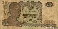 10 Rupiah INDONÉSIE  1968 P.105a TB