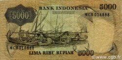 5000 Rupiah INDONÉSIE  1975 P.114a TB+