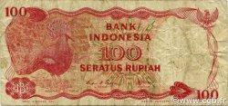 100 Rupiah INDONÉSIE  1984 P.122b TB