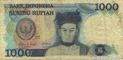 1000 Rupiah INDONÉSIE  1987 P.124a TTB