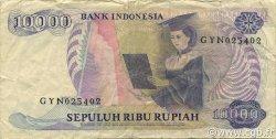 10000 Rupiah INDONÉSIE  1985 P.126a TB+