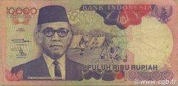 10000 Rupiah INDONÉSIE  1993 P.131b TB