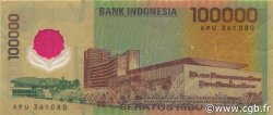100000 Rupiah INDONÉSIE  1999 P.140 TB+