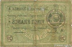 20 Francs NOUVELLE CALÉDONIE Nouméa 1874 P.03 B+