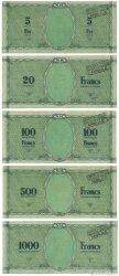 5, 20, 100, 500, 1000 Francs NOUVELLES HÉBRIDES  1943 P.01-02-03-03A-03B pr.NEUF