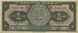 1 Peso MEXIQUE  1948 P.046a TTB