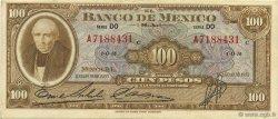 100 Pesos MEXIQUE  1953 P.055b SUP