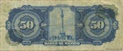 50 Pesos MEXIQUE  1969 P.049r TB