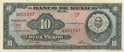 10 Pesos MEXIQUE  1961 P.058i NEUF