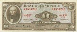 100 Pesos MEXIQUE  1971 P.061f SUP