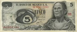 5 Pesos MEXIQUE  1972 P.062c TTB