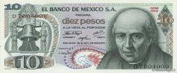 10 Pesos MEXIQUE  1971 P.063d NEUF