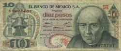 10 Pesos MEXIQUE  1974 P.063g B à TB